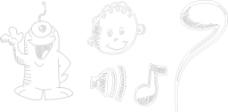 手繪小黃人 音符圖片