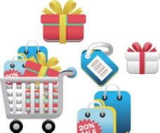 禮物 購物車圖片