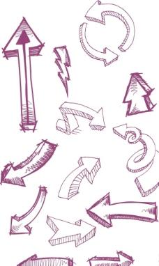 手繪 箭頭素材圖片
