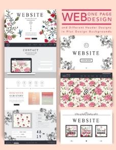 时尚网页模板设计图片