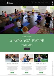 瑜伽减肥网站模板图片