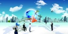商务科技网络图图片