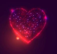 情人节心形背景矢量图图片