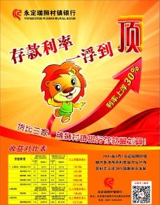 瑞狮村镇银行利率上浮广告图片