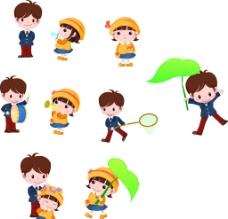 卡通小孩人物图片