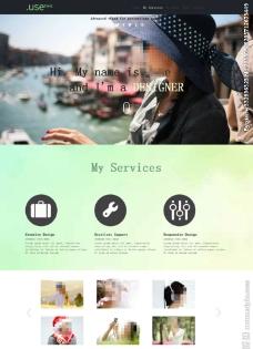 大气投资组合网站模板图片