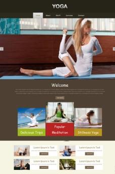 瑜伽健身會館網站模板圖片