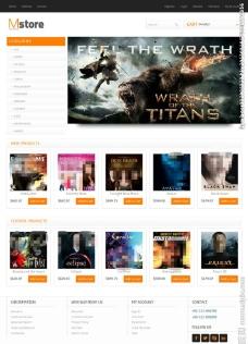 电影票销售网站模板图片
