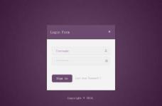 紫色網站登錄頁面模板圖片