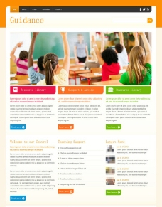 國外教育教學網站模板圖片
