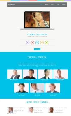 多彩設計公司網站模板圖片