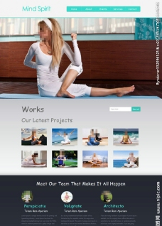 静心打坐健身网站模板图片