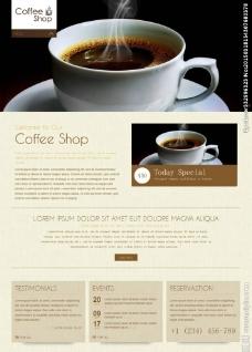 咖啡店網站模板圖片