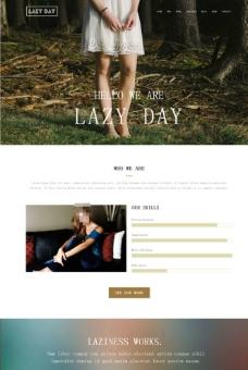 棕色风格女性类网站图片