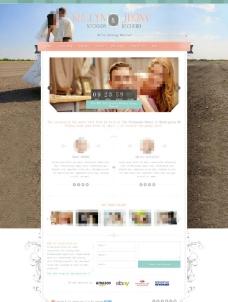 粉色婚慶公司網站模板圖片