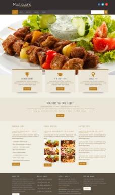 西餐厅美食网站模板图片