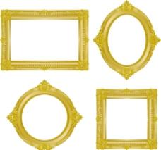 金色欧式相框图片