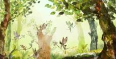 文艺神秘森林图片