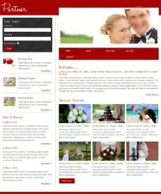 婚礼策划公司网站模板图片