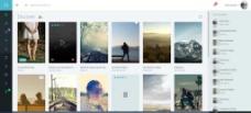 小清新音乐网站模板图片