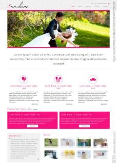 欧美浪漫婚礼网站模板图片