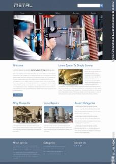 化工企业网站模板图片