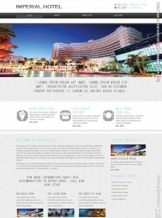 旅行酒店宾馆网页模板图片