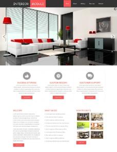室内家居装饰企业网站图片
