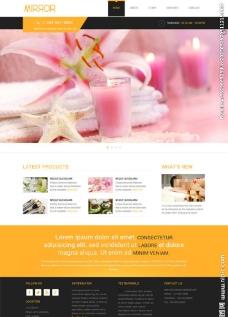 女性水疗会所网站模板图片