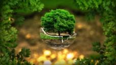 绿色环保树背景素材