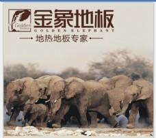 金象地板LOGO 大象
