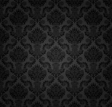 黑色花纹背景图片