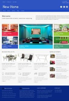 创意家居工艺网站模板图片