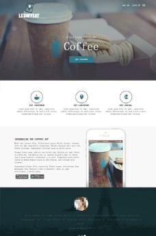 咖啡甜点网站模板图片
