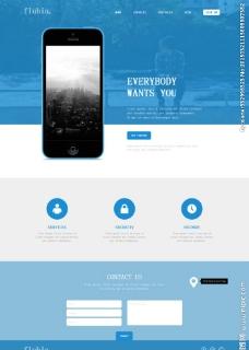 蓝色动画效果企业模板图片