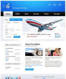 蓝色航空公司模板图片