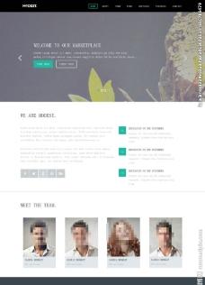 大气简洁商务网页模板图片