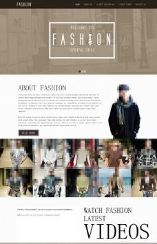 模特服装走秀网站模板图片