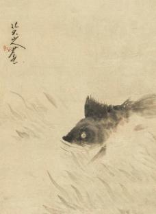 八大山人 鱖鱼图图片