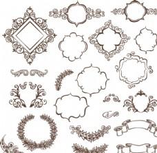 欧式花纹图框