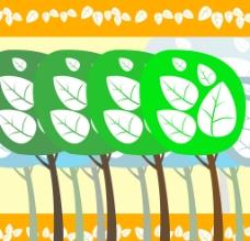 清新树林高清壁纸墙纸 背景底纹图片