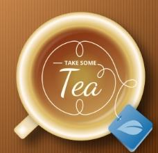 精美茶杯背景