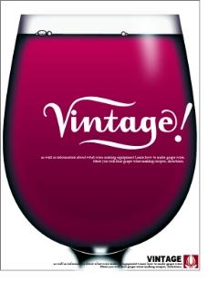 红酒杂志广告设计