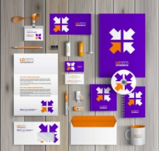 紫色大气VI设计图片
