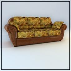 花纹沙发3D模型素材