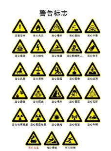 警告标识图片