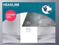 蓝色灰色相间背景宣传册图片
