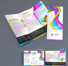 彩色线条质感宣传册图片