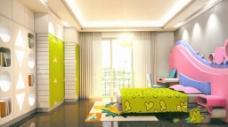 卡通卧室模型