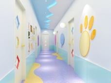 幼儿园走廊模型
